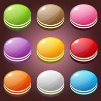 Beautiful candy cake shape button color set