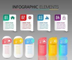 moderne tekstvaksjabloon, banner infographics
