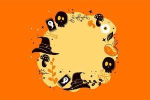 Halloween Circle Frame  vector