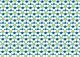 White and Yellow Flower Pattern vector