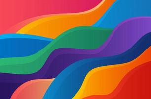 Dynamic liquid wave colorful background vector