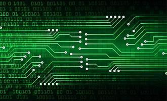 fondo de tecnología futura del circuito cibernético verde