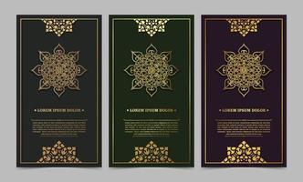 plantilla de tarjeta de felicitación de adorno de lujo