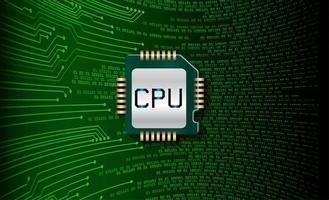 Green CPU circuit concept background vector