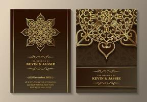 Luxury ornament invitation template vector