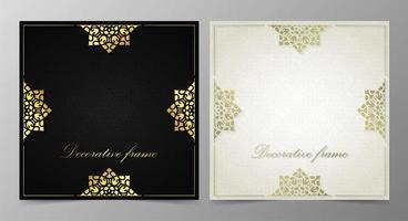 fundo de design de molduras decorativas elegantes