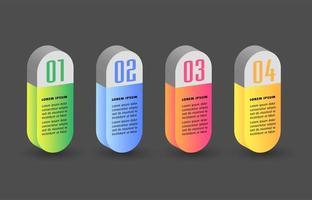 moderno modello di casella di testo 3d, infografica banner
