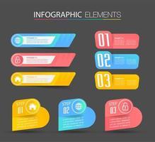 modello di infografica moderna casella di testo