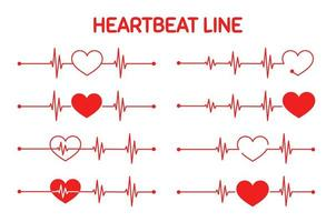 Red heart rate graph When exercising vector