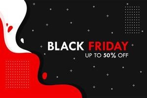 White and red liquid black friday background
