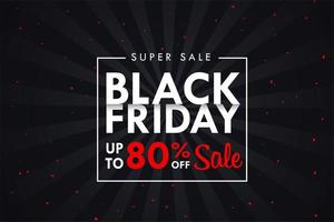 Black Friday text box on black background For special discounts
