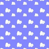 Pattern Fluffy White Cloud on Blue Background