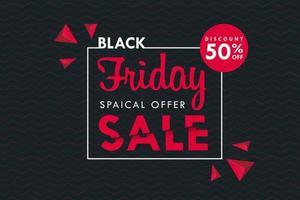 Black Friday textbox on black background  vector
