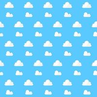 Pattern White Cloud on Blue Background