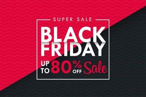 Black Friday text box on black and pink background