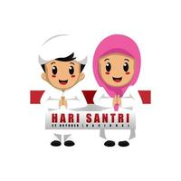 Children design for Indonesia national islamic student's day