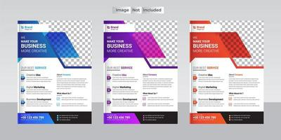 Modern corporate business flyer layouts
