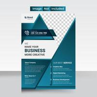 Corporate flyer layout template vector