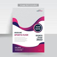 Sport fitness flyer template