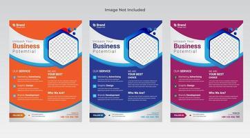 flyer de negocios plantillas de folletos corporativos vector