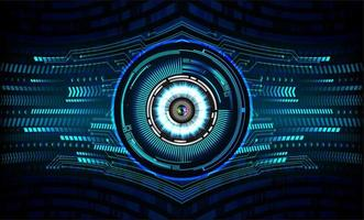concepto de tecnología futura del circuito cibernético de ojo azul
