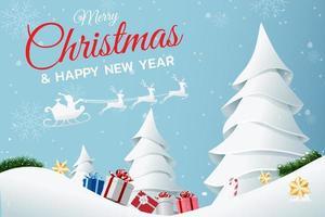 cartel de feliz navidad y próspero año nuevo vector