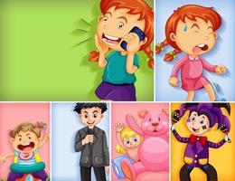 conjunto de diferentes personajes infantiles