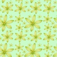 fundo transparente com flores verdes vetor