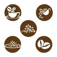 conjunto de imágenes de logo de cafetería