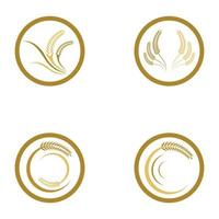 Wheat logo images set vector
