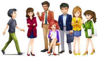 Men and women in suit vector