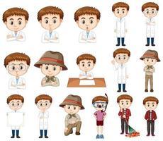 conjunto de niño en diferentes disfraces.