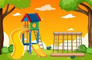 Cartoon-style playground background vector