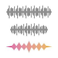 Sound wave images set vector