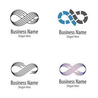 Infinity logo images set vector