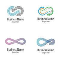 Infinity logo images set