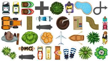 Set of element house decorations isolated