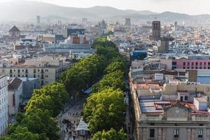 views over the houses of barcelona spain photo