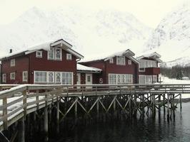 Maison traditionnelle de norvège photo