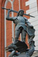 Statue of Saint George in Riga