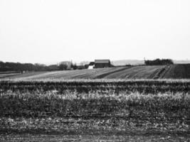 casa de campo sobre campos foto