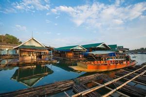 floating wood house thai style at Sangkhlaburi