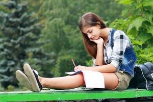 chica universitaria foto