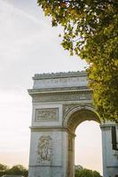 Arco de triunfo, París, Francia foto