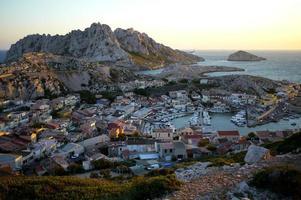 vila de pescadores mediterrânea