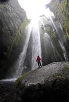 der gljúfrabúi Wasserfall, Island