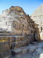 ruinas en egipto, caire, gizhe foto