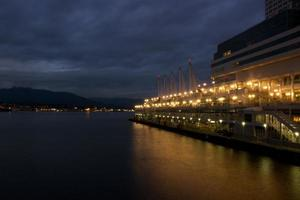 Canada Place at night, Vancouver