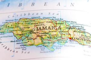 mapa mundial que muestra los territorios dentro de jamaica foto