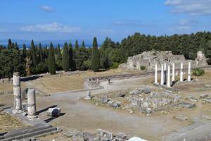 antiguo sitio de asclepio en la isla de kos en grecia foto